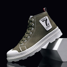 New Casual Men Boots Dark green Black Work Male Designer Outdoor Shoes for Rubber Sole Non-Slip Fashion