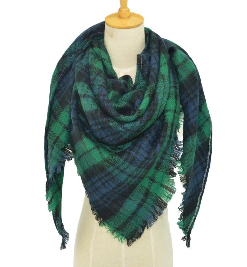Dark Plaid Blanket Scarves | Blanket Scarves
