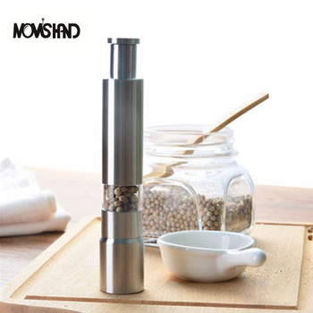 Novelty Home Kitchen Tool Manual Stainless Steel Salt Pepper Mill Spice Sauce Grinder