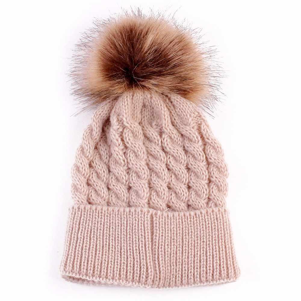 bd06fa15081 Winter Baby Kids Girls Boys hats Warm Soft Woolen Hood Babies Lovely Caps  Hats Knitted Wool