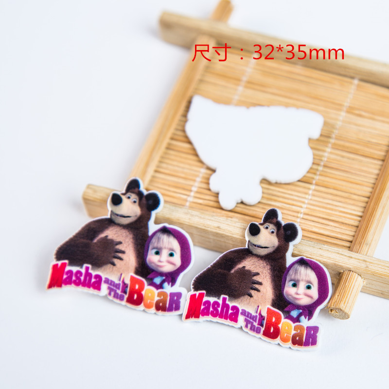 10pcs/lot bear flat back planar resin DIY resin cabochons accessories for diy mobile phone case headband hair bow