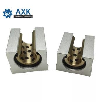 Copper Sheath Oil Bearing Jdb Solid Axk 1pcs Sbr10 Sbr12 Sbr16 Sbr20 Sbr25 Free Shipping Embedded Graphite Self-lubricating