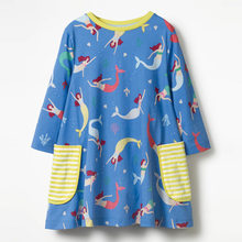 Jumping Meters 2018 Brand Autumn Printed Dresses Baby Girls Costumes For Kids Clothes Children