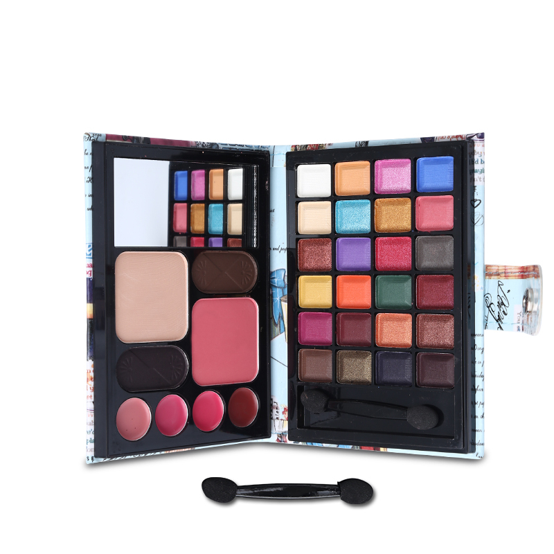 Professional Makeup Set Multi-function Matte Shimmer Eyeshadow Palette + Blusher + Lipgloss + Eyebrow Cake