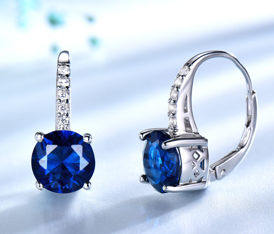 blue sapphire clip earrings for women  (3)