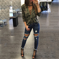 Summer Autumn Fashion Long Sleeve Casual LaceUp Camouflage T-Shirt For Women Sexy V Neck Basic Female Tumblr Tshirt Plus Size XL