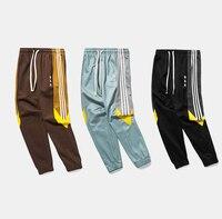 2018 Side Stripe design Vintage Color Block Patchwork Harem Track Pants Spring/Autumn Hip Hop Casual Streetwear Pants Trousers