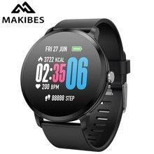 Makibes T4 Smart Watch Fitness tracker Sport Bracelet IP67 Waterproof Bluetooth Tempered Glass Men