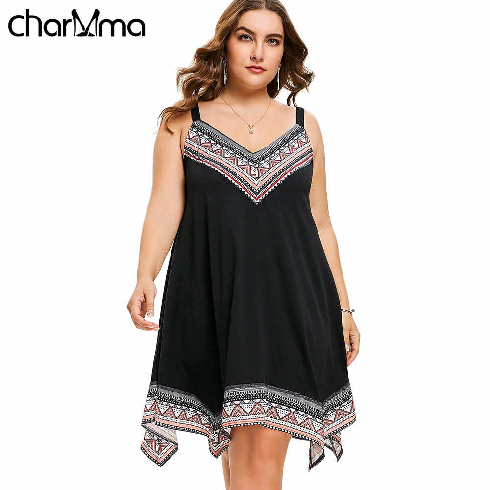 9ee6a616f92 Summer Women Dress V Neck Handkerchief sundress Plus Size top Boho Dress  Women Sexy party Dress