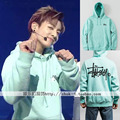 Fall Winter BTS Bangtan Boys concert in conjunction Jungkook Tian Jiu country cashmere sweatshirt coat free shipping