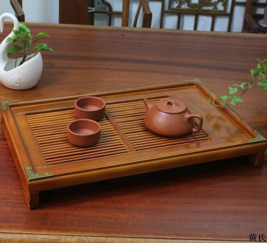 ФОТО 43.5*28*6 water storage tray tray edge of oak wood wooden tea tray tea saucer