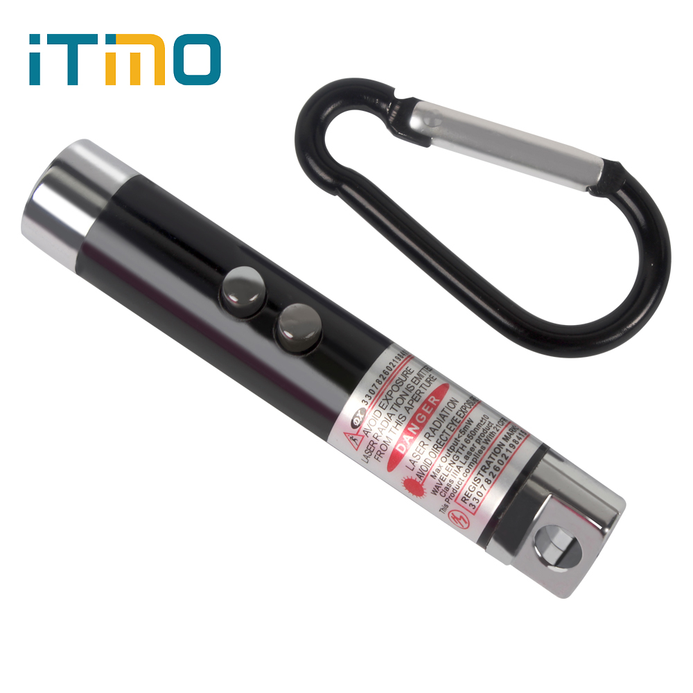 iTimo Keychain UV Torch Laser Pointer Pen Beam Infrared 3 in 1 Mini LED FlashLight Portable