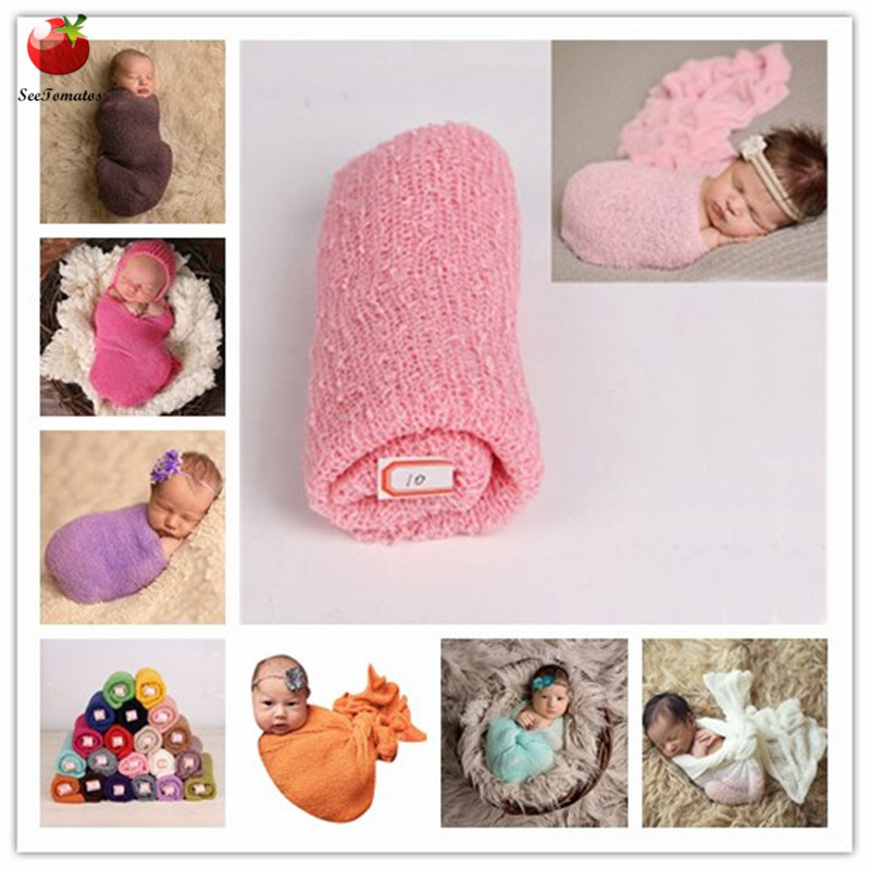 35*150cm Stretch Knit Wrap Newborn Photography Props Baby Kids Blanket Rayon Wraps Maternity Scarf Hammock Swaddlings Bebe Photo nuevo ven libro del alumno ejercicios 1 cd
