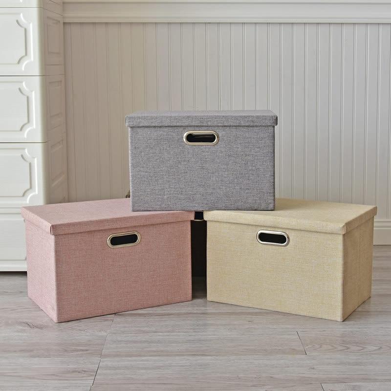 Folding Children's Toy Clothing Storage Box Multi Function Home Wardrobe Sundries Underwear Finishing Storage Box