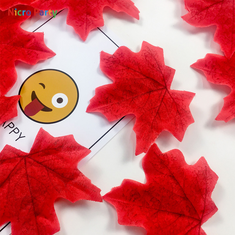 Nicro 50 pcs/lot Artifical Maple Leaves Fake Autumn Fall Leaf Wedding Party Decoration Craft Home Bedroom Wall Book Decor #Art26Nicro 50 pcs/lot Artifical Maple Leaves Fake Autumn Fall Leaf Wedding Party Decoration Craft Home Bedroom Wall Book Decor #Art26