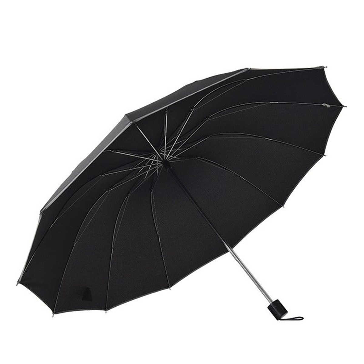 60a676c10ac8 Large Folding Umbrella Men Rain Woman 3 Fold Umbrella Automatic Windproof  Umbrellas 10/12 Ribs Parasol Rainy Sunny Umbrella