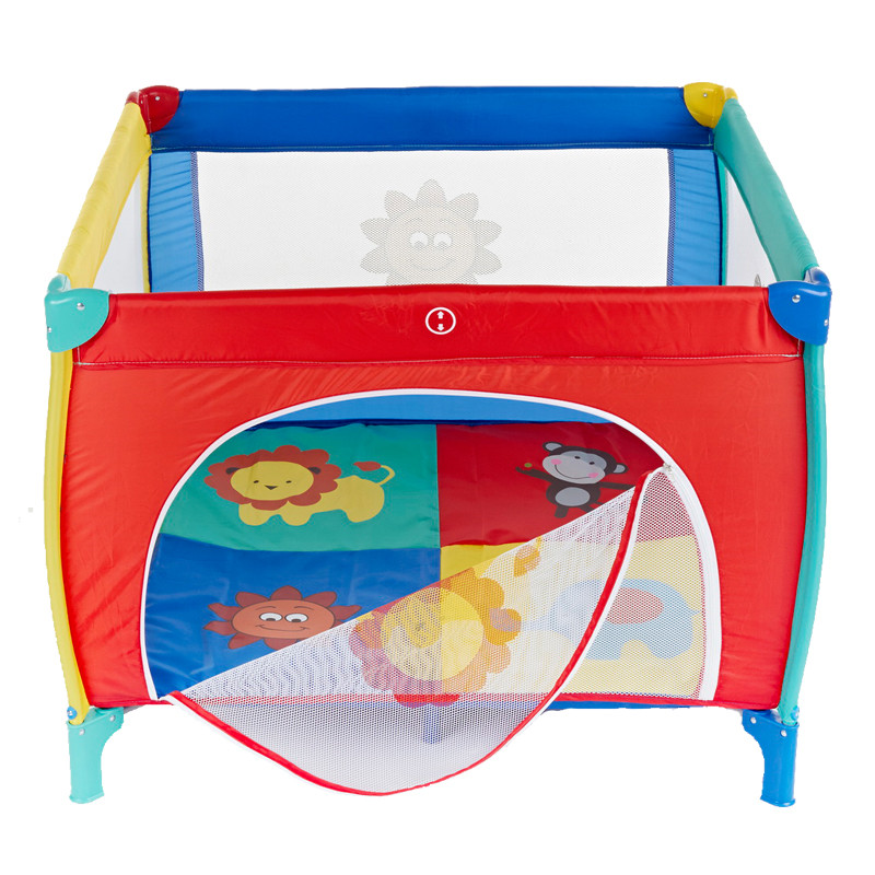 Baby Play Bed Children Square Bed  Light Folding Travel Bed  Walking And Crawling Play Fence Pool Colorful Crib