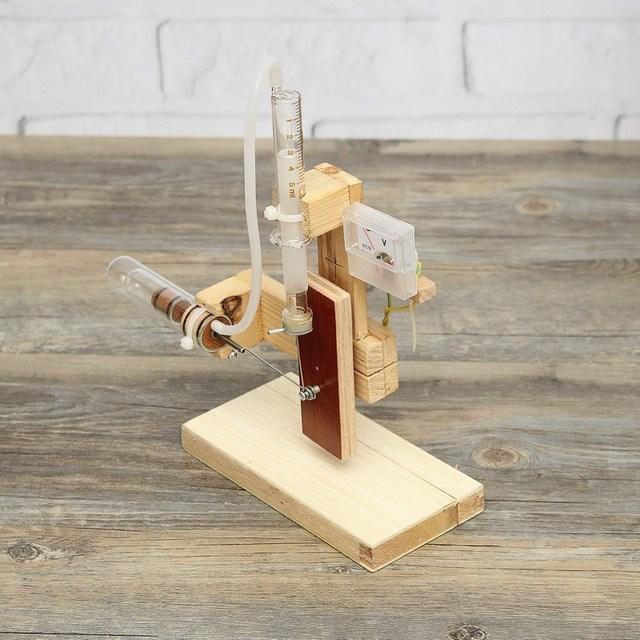 Diy de madera modelo de motor stirling mini motor de combustión externa modelo educativo juguetes de regalo para niños y adultos