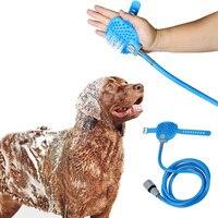 חיות מחמד טיפוח מסרק שיער חיות מחמד כלב כלי ניקוי כביסה חתול ראש מקלחת עיסוי הסר מברשת לכלבים גדולים קטנים