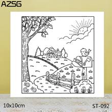 AZSG Quiet country road Clear Stamps For DIY Scrapbooking/Card Making/Album Decorative Silicon Stamp Crafts