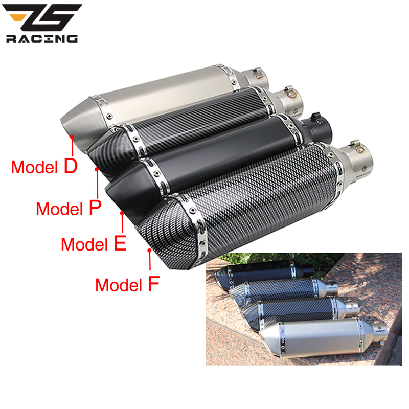 ZS Racing For 51MM akrapovic Exhaust Motorcycle Muffler Pipe Pit Dirt Bike For gy6 gsr 600 msx125 crf 230 cb650f Slip-onZS Racing For 51MM akrapovic Exhaust Motorcycle Muffler Pipe Pit Dirt Bike For gy6 gsr 600 msx125 crf 230 cb650f Slip-on