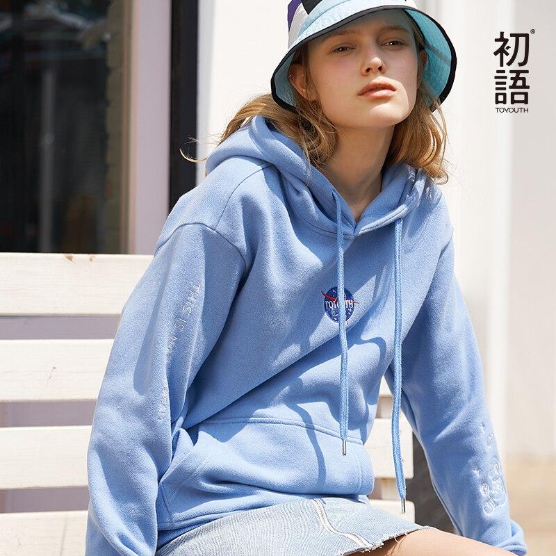 Toyouth feminino manga longa topo harajuku moletom hoodies moletons moletons inverno pulôver camisolas casuais carta topos