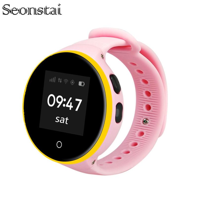 Seonstai Kids Smart Watch S669 Children Wristwatch 1.22'' IPS Screen GPS Tracker Monitor Baby SOS Anti Lost Reminder Phone Watch smart baby watch q60s детские часы с gps голубые