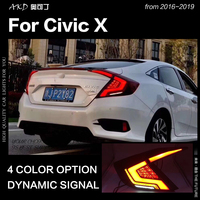 Car Styling for Honda Civic Tail Light 2017 2019 Civic LED Tail Light Rear Lamp DRL LED Dynamic Signal Brake Reverse Accessories