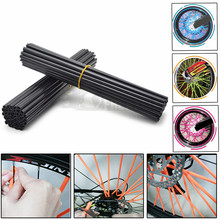 Motocross Motorcycle Dirt Bike Wheel Rim Spoke Skins Covers Wrap Tubes Decor Protector For harley dyna touring softail dyna 883 36pcs motorcycle bick wheel rim spoke skins covers wrap tubes decor