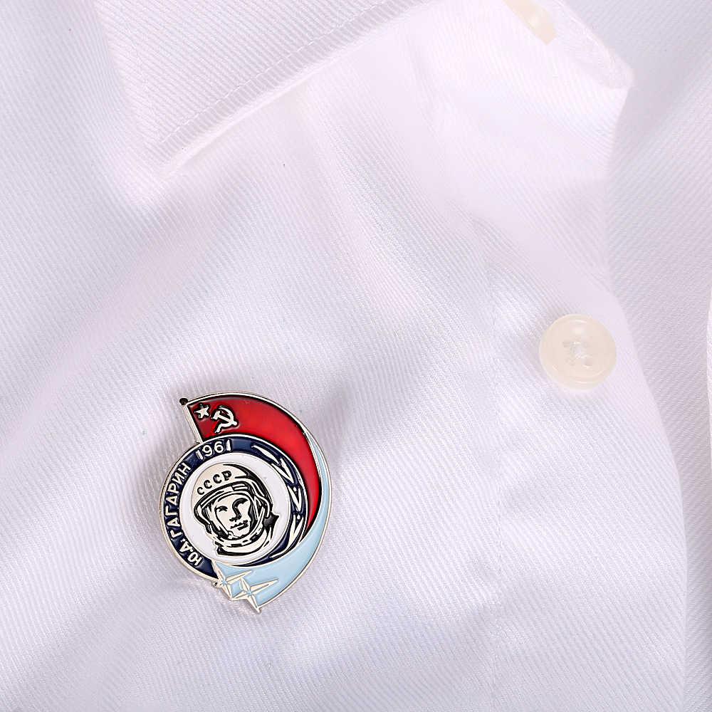 CCCP USSR Rusia Yuri Gagarin Alekseyevich Badge