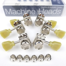 1 Set 3R3L Vintage Deluxe Locking Electric Guitar Machine Heads Tuners For LP SG Electric Guitar Tuning Pegs Nickel