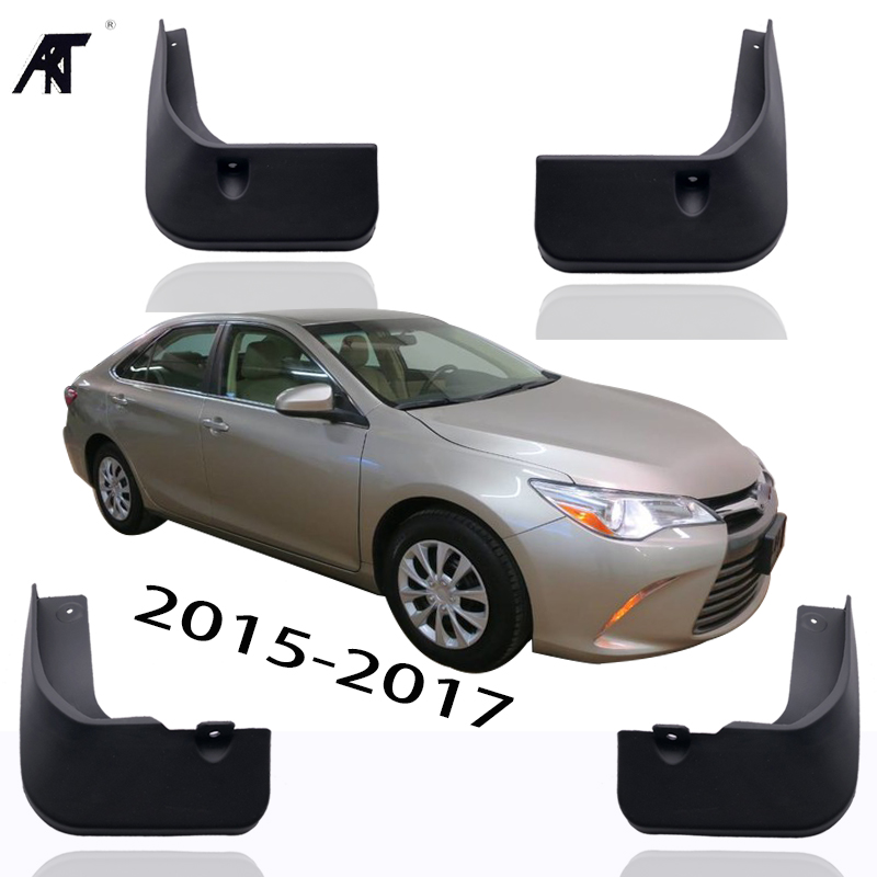 4pcs Kit ABS Car Mud Flaps Splash Guard Fender For 2015 2016 2017 Toyota Camry