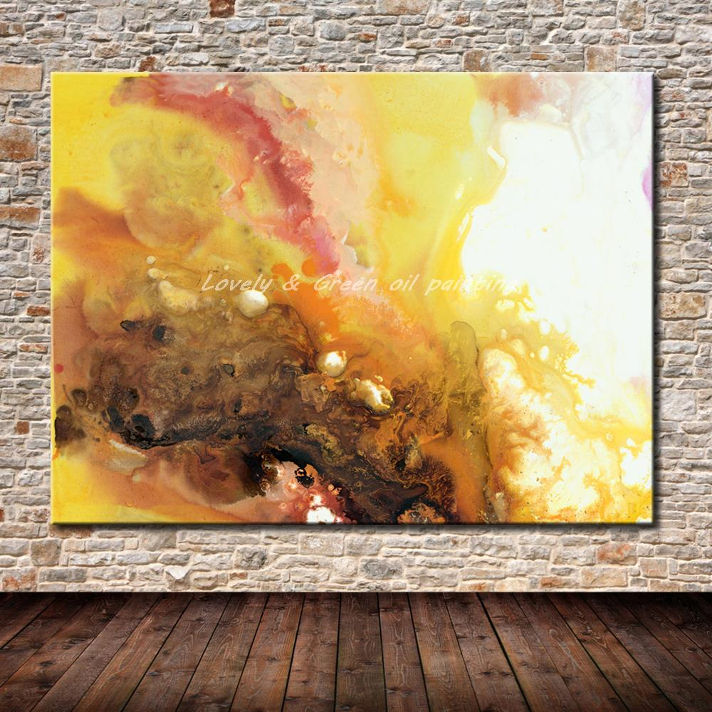 Nº100% Hand-Painted Modern Abstract Canvas Oil Painting Wall Art ...