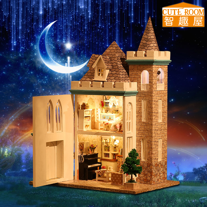 Handmade Doll House Diy miniature Woodhouse Dollhouse miniaturas Furniture House Doll Toys For Children Birthday Gift K012