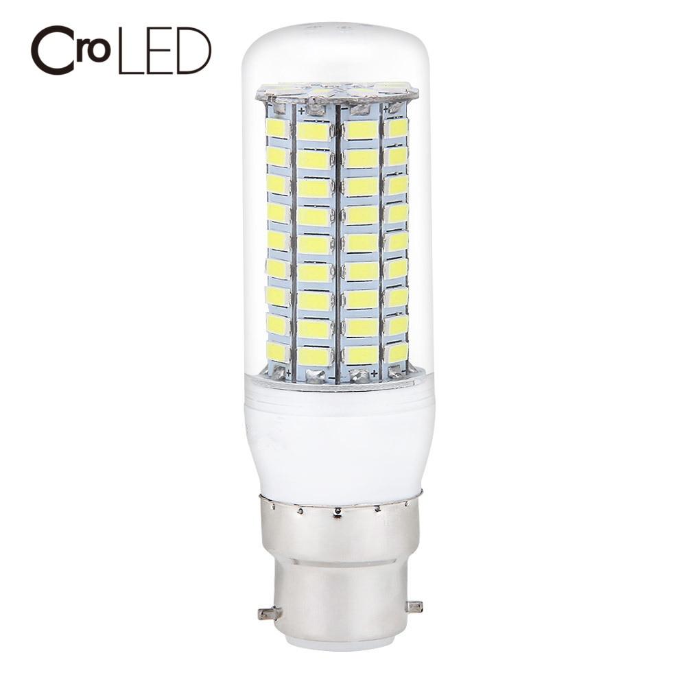 CroLED B22 LED Lamp Bayonet Bright 99LEDs 5730SMD LED Corn Bulb 20W 2000LM Corn Light No Flicker Lights Energy saving Light Bulb