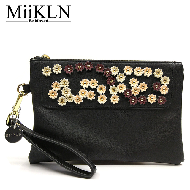 Miikln Lshd Series Women Day Clutches Flat Handbags Soft Pu Leather Summer Bag New Fashion Design