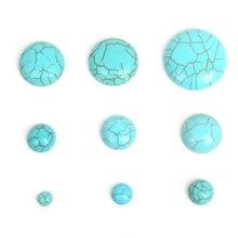 Perles semi-rondes en calaïte naturelle, Cabochons à dos plat, bricolage, accessoires en pierre, pour la fabrication de bijoux, 6/8/10/12/14/16/18/20/25mm