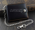 Vintage Mens Boys Snap Many Card Slots Leather Chain Wallet Biker Trucker