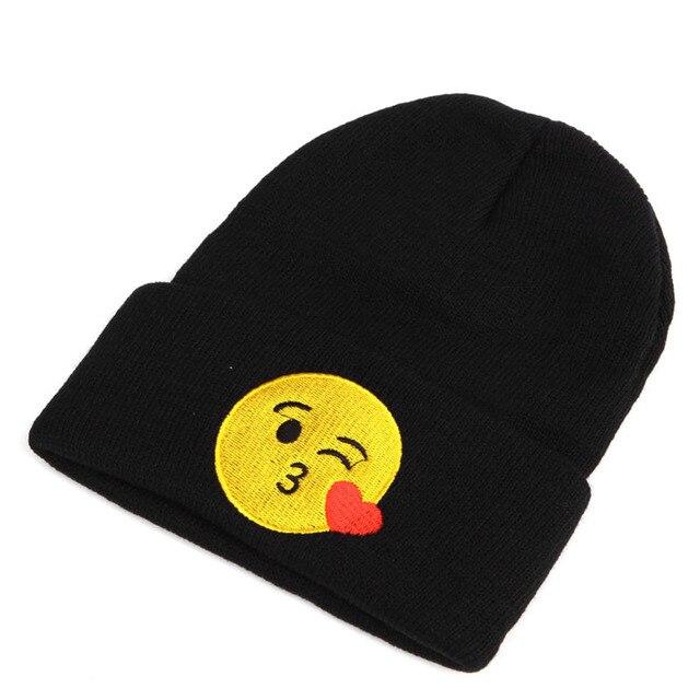 d2243a95eac9f Baby Kids Toddler Emoticons Emoji Hat Winter Boy Girl Beanie Warm Knitted  Newborn Print Cute Solid