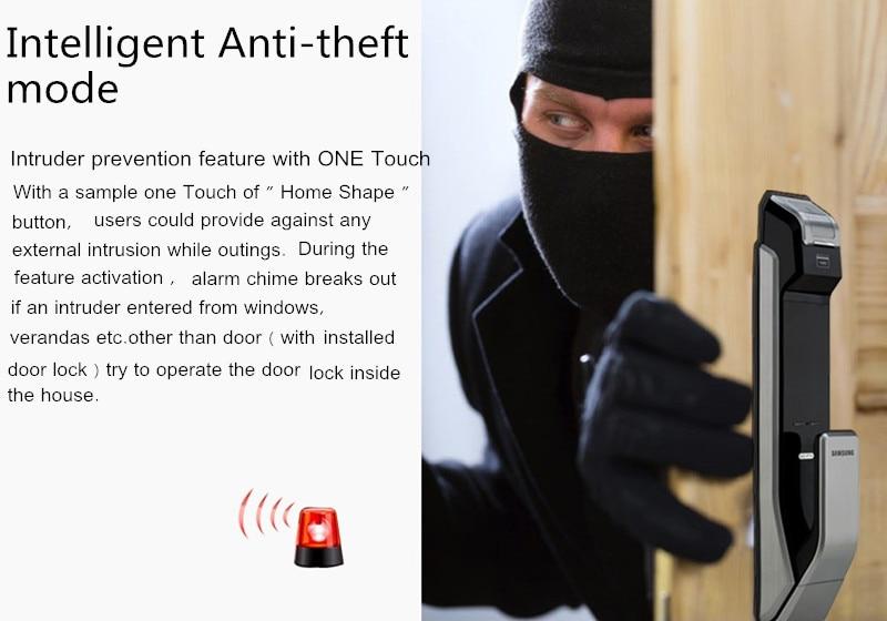 HTB1R7o X3aH3KVjSZFpq6zhKpXaP SAMSUNG Fingerprint PUSH PULL Digital Door Lock With WIFI Bluetooth App SHS-DP728 English Version Big Mortise AML320