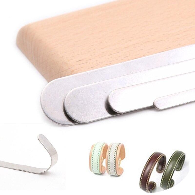 1PCS Inner Core DIY Ring Bracelet Handmade Shaping Core Leather Manual Stainless Steel Vegetable Tanned