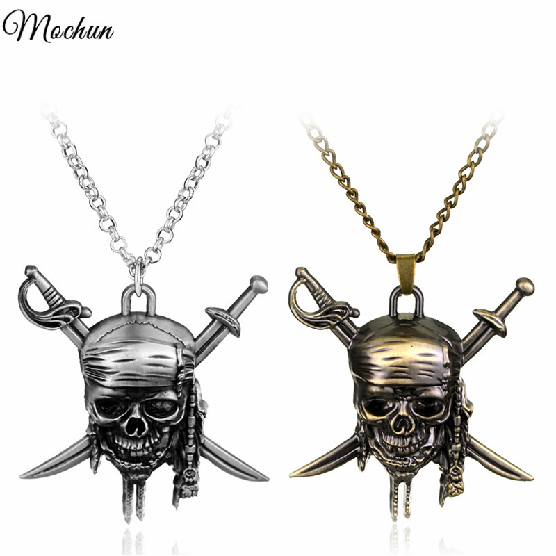 MQCHUN Pirates Of The Caribbean Necklace Hot Sale Skull Pendant Jack Necklaces Fashion Jewelry Christmas Gift For Fans