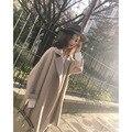 Шерстяное Пальто Куртки Кашемира Женщин Зима и осень девушка Пальто смесей пояса 2016 Новый элегантный женский