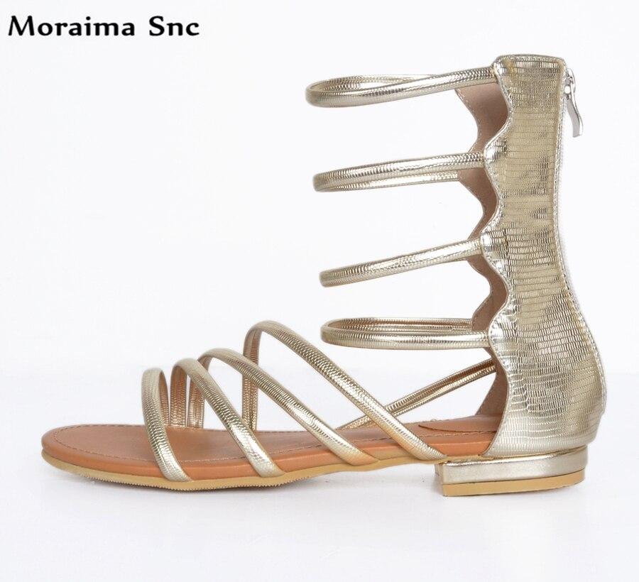 Здесь продается  Moraima Snc hot selling fashion women Flat open toe concise type cover heel zipper Ankle strap party sexy for ladies  Обувь