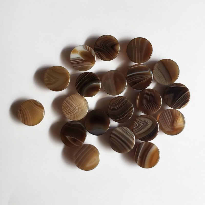 2018 20 ชิ้น/ล็อตไม่มีแฟชั่นสีเทาลายนิลหินธรรมชาติรอบ charms cabochon ลูกปัดสำหรับเครื่องประดับแหวนอุปกรณ์เสริม 16 มิลลิเมตร