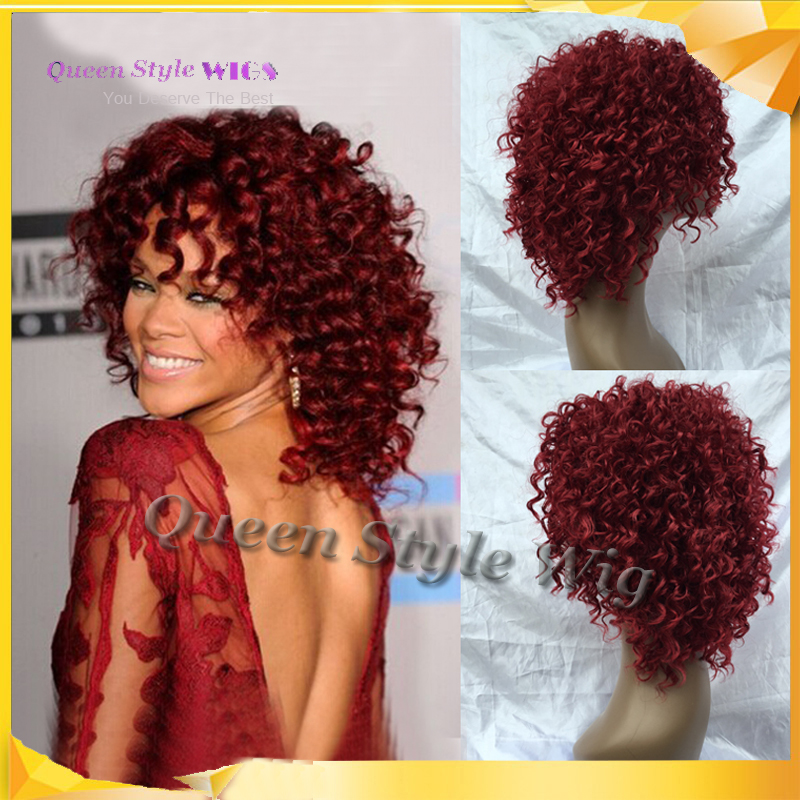 Rihanna hairstyle wigs red wine color pin curl perm curly wave rihanna hairstyle wigs red wine color pin curl perm curly wave synthetic hair wig salon full cap hair wigs free shipping h0355b on aliexpress alibaba urmus Images