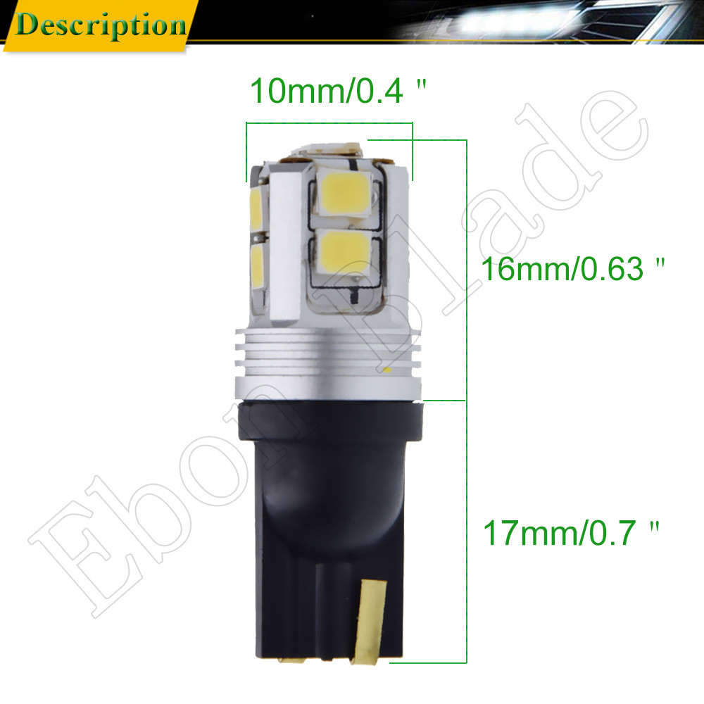 Image 3 - Pair T10 W5W 194 168 2825 White Canbus LED Bulbs For Car Interior Dome Map Light Automobiles License Plate Parking Lamp 12V DC-in Signal Lamp from Automobiles & Motorcycles