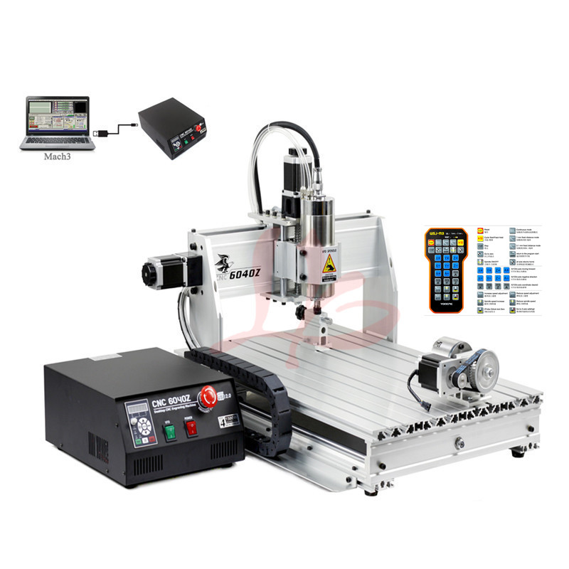 3d milling machine 6040Z 2200W water cooling spindle USB port DiY cnc router