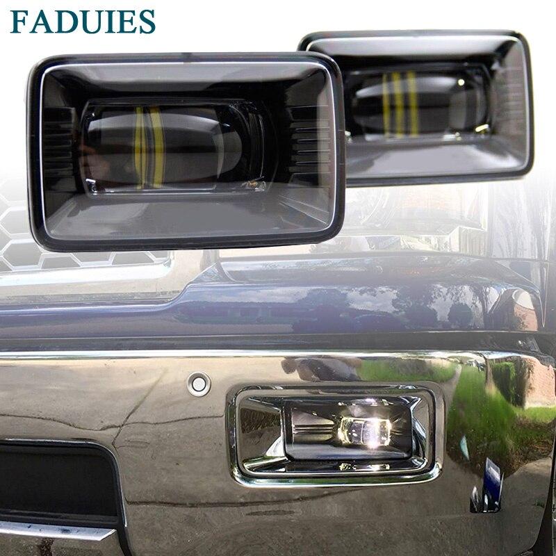 FADUIES Black Car High Power LED Fog Lamps LED Fog Light For Ford F-150 Fog lights for ford fiesta van box 2003 2015 10w high power lens set light led fog lights car styling fog lamps
