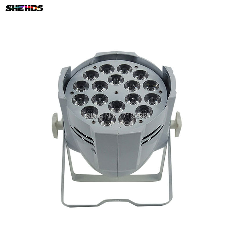 6pcs/lot 18x18W 6in1 RGBWA+UV LED Stage Light LED Par Can With DMX512 Flat DJ Equipments Controller Fast&Free Shipping freeshipping irc 9x18w rgbwa uv 6in1 battery wireless led par light 165w full color display screen infrared wireless controller